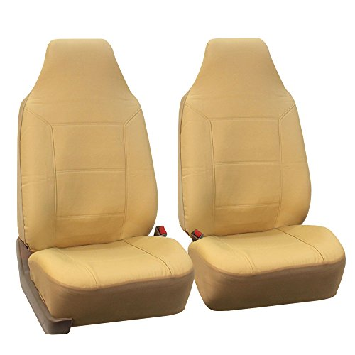 Fh pu103115 high back royal pu leather car seat covers - Car seat covers for tan interior ...