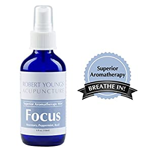 Superior Focus Aromatherapy Mist • Room & Body Essential Oil Spray • 100% Natural Mist • Featuring Peppermint & Rosemary & more • Improve Brain Function & Memory •