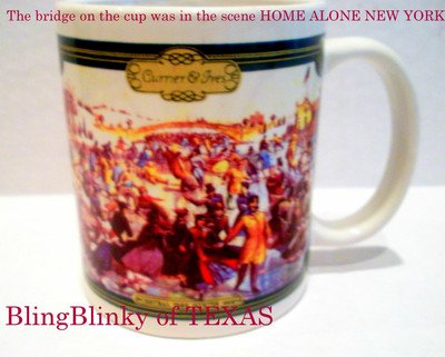 Currier & Ives Central Park New York Winter 1862 Christmas Mug Cup Coffee Hot