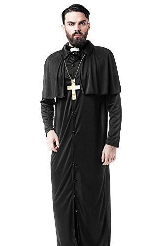 [Men's Missionary Christian Church Priest Monk Dress Up & Role Play Halloween Costume (One Size - Fits] (Cheap Sexy Halloween Costumes Ideas)