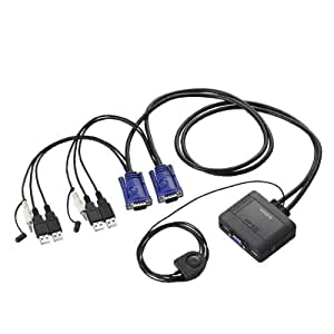 ELECOM USB⇔USBパソコン切替器/オーディオ切替 KVM-KUS