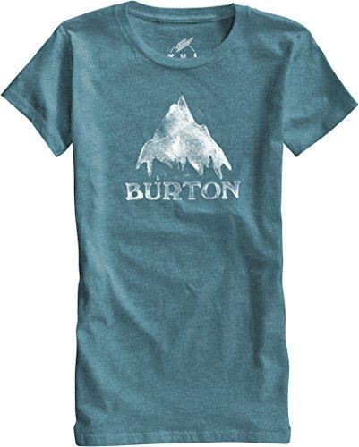 Burton-Maglietta da donna a maniche corte modello stmdmtn RPET, Donna, T-Shirt WB Short Sleeve RPET, Teal Heather, S