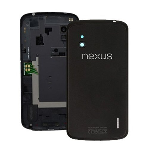 Battery Door Cover Back Housing with NFC Chip For LG Google Nexus 4 E960 OEM NEW (Black) (Lg Nexus 4 Back Cover compare prices)