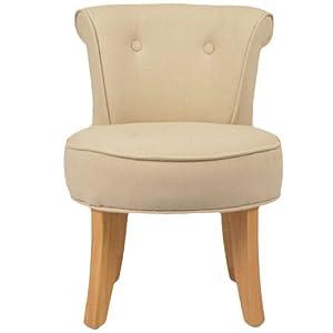 Petit fauteuil crapaud lin beige louis cuisine maison - Fauteuil crapaud amazon ...