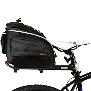 Ibera Bicycle Quick-Release PakRak Mini Commuter Bag and Seat-Post Rack by Ibera