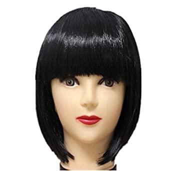 Autek Shoulder-length Short Straight Cute Fluffy Bobo Wigs Hair