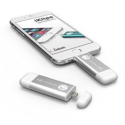 Adam Elements 16Gb Iklips Lightning/Usb 3.0 Dual-Interface Flash Drive - Silver