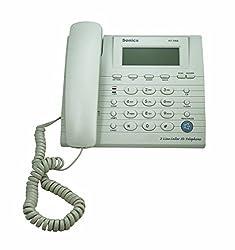 Sonics 2 Line Caller ID Hand's Free Speaker phone (White)