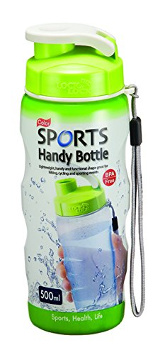 500 ml colore Sport Borraccia con tracolla, unisex, Colour Sports Handy Bottle with Carry Strap 500ml, verde, L