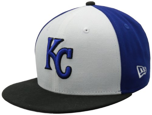 MLB Kansas City Royals White Front Basic 59Fifty Fitted Cap, White/Team, 800 at Amazon.com