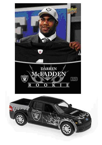 NFL Ford SVT Adrenalin Concept Die-cast - Raiders with Darren McFadden Card - Oakland Raiders - 1