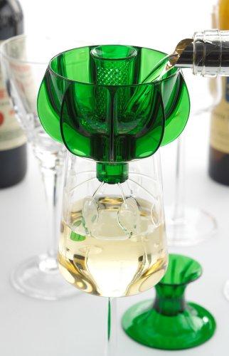 WineWeaver – Single Glass & Decanter Wine Aerator [Green]