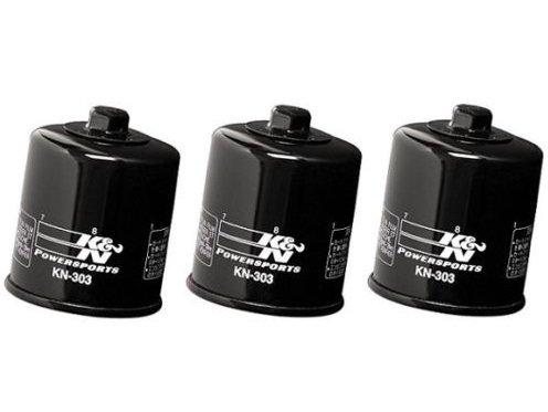 K&N Performance Oil Filter Kawasaki VN1700 Vulcan, Voyager (Pack of 3) / KN-303