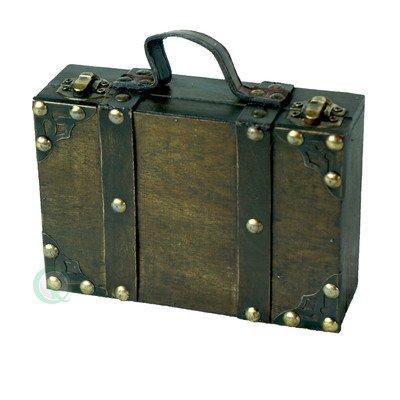 Quickway Imports Antique Style Suitcase/Decorative Box, Small/Mini