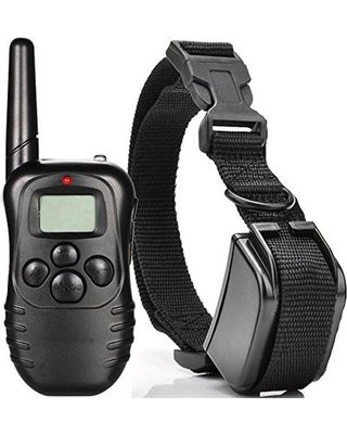 300M Rechargeable And Waterproof Shock Vibrate Remote Control LCD Electric Pet Dog Training Collar -Ez2Shop