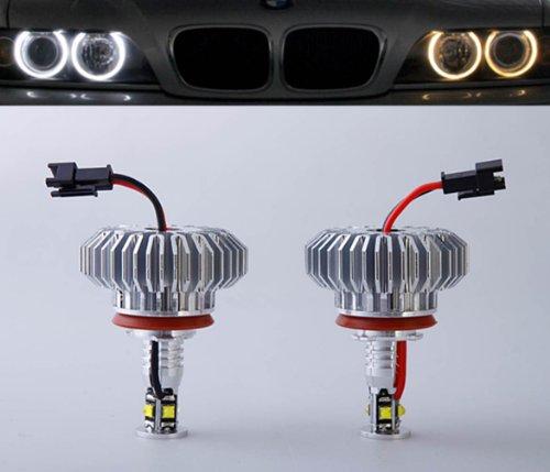32W High Power H8 Led Angel Eyes For Bmw E60 E61 E90 E92 E70 E71 E82 E89 1 3 5 Series X5 X6 Z4 - 360 Degree Xenon White