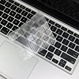 "COSMOS Clear Ultra Thin TPU Soft keyboard Cover Skin for Aluminum Unibody Macbook Pro 13"" 15""  17"" Macbook White"