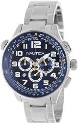 Nautica Men's Ocn 46 A34524G Blue Stainless-Steel Quartz Watch