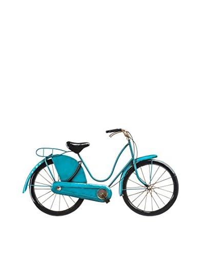 Metal Loft Bicicleta Decorativa Vintage Art Azul