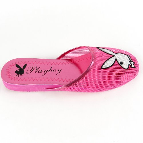 Cheap Women's Playboy Bunny Mesh Slipper Sandals Pink , 5-10 (B007O45N9S)