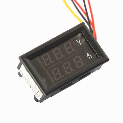 """Gadgetzone (Us Seller) 0.28"""" Mini Blue Red Led Panel Digital Volt Meter 0-300V 10A Test Range With 5 Lines For Voltage Current Measure"""