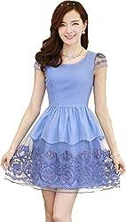 Gopika Creations Blue Color Sleeveless Dress