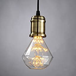 Perfect Bulb Edison Style LED Light Bulb 3w Squirrel Cage E26 Base for Home Light Fixtures (G95 Diamand Style)