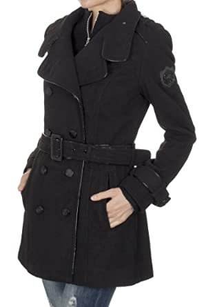 Ed Hardy Woman's Long Coat ehjw7042 (X-Small)