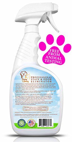pet stain odor miracle enzyme cleaner for dog and cat urine feces vomit drool home garden. Black Bedroom Furniture Sets. Home Design Ideas
