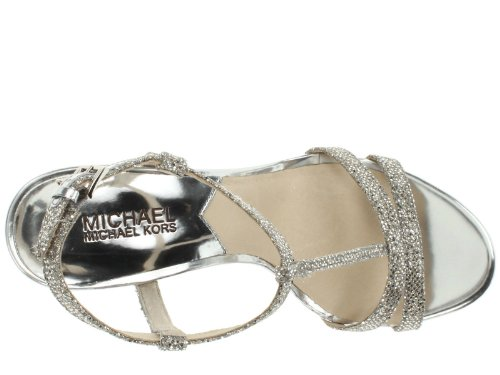Michael Kors Women'S Yvonne Platform Silver Size 10