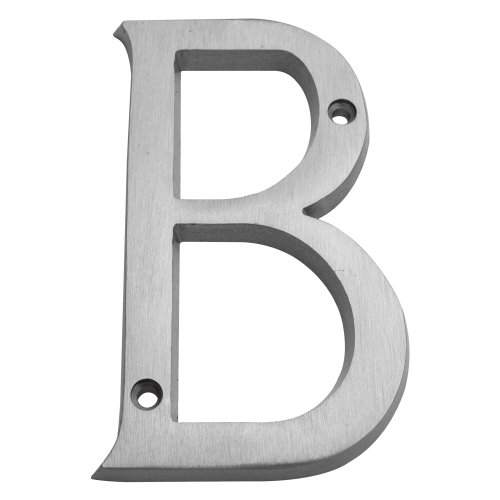Inch Solid Brass Satin Nickel Finish House Letters
