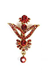 Syonaa brooch in red colour