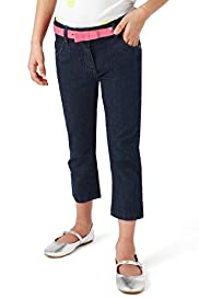 Autograph Cotton Rich Cropped Denim Jeans with Belt