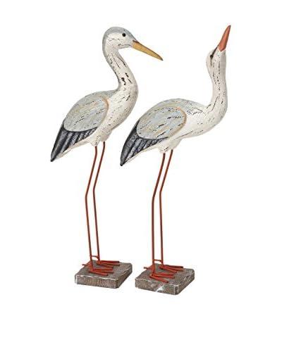 Set of 2 Wood Birds