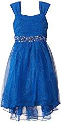 Speechless Little Girls' Glitter Hi-Low Dress