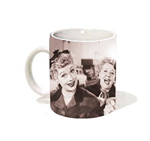I Love Lucy Group in the Car Classic TV Television Comedy Show (Lucille Ball) Ceramic Gift Coffee (Tea, Cocoa) 11 Oz. Mug by Classico