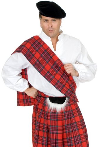 Red Scottish Kilt Adult Costume