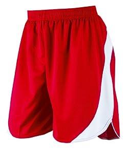 Prostar Sparta Unisex Teamwear Short - Scarlet/White, 40 Inch