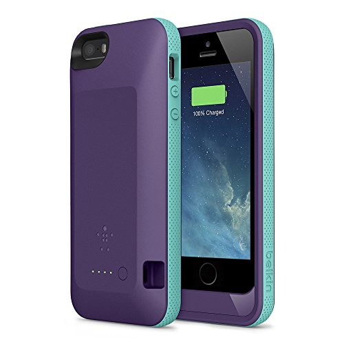 Certified Remanufactured - Purple - 2000Mah Extended Battery Case Back Up Power Bank For Iphone 5 / 5S Back Up (Ios 7 Or Above Compatible) + Lightning Charging Port + Slim Fit Slider Design + Full Body Protection + On/Off Switch Led Battery Level Indicato