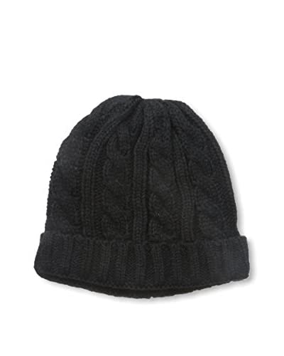 Gina Men's Cable Knit Hat, Black