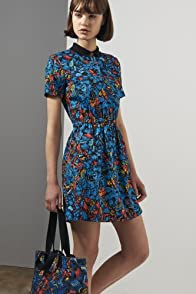 L!ve Short Sleeve Printed Woven Dress