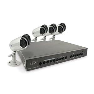 SVAT CV0204DVR Web-Ready DVR Security System with 4 High-Resolution Indoor/Outdoor Night Vision Surveillance Cameras