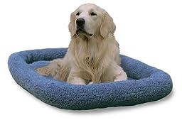 NAP Pet Bed Berber Bolster Pet Bed, Blue, X-Large Fits 26\