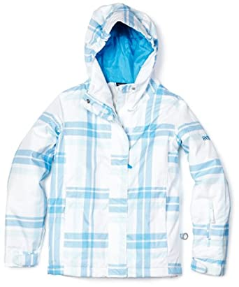 Roxy SNOW Girls 7-16 Jet Stream Jacket, White, 12
