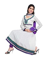 Manvaa Semi-Cotton Embroidered Semi Stitched Dress Material - B00X0UKU4I