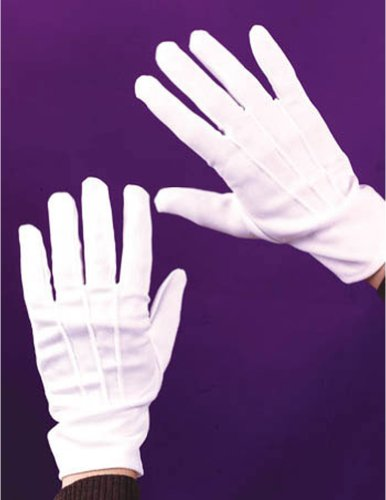 Costume-Accessory Gloves Theatrical W Snap White Halloween Costume Item - 1 size