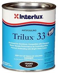 Interlux Black Trilux 33 Antifouling Paint, Quart YBA063/QT