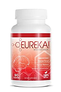 Eureka! Intensified Focus - 90 Capsules, Brain Supplement, Supports and Maintains Memory, Concentration and Focus Boost. Memory Improvement Pills ((All In One Brain Nutrition))