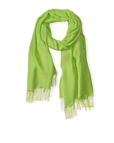 Alicia Adams Alpaca Women's Silk Wrap, Lime