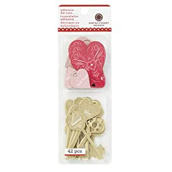 Martha Stewart Crafts Key And Heart Chipboard Die-Cuts